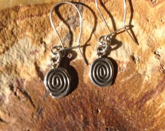 Sterling spiral earrings