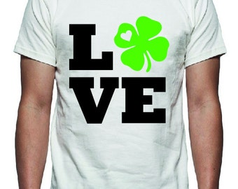 Love St Patricks Day Tee Shirt Design, SVG, DXF, EPS Vector files for use with Cricut or Silhouette Vinyl Cutting Machines
