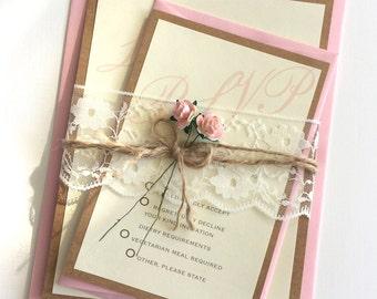 Vintage Fleur  Collection, Wedding Invitation (Day)