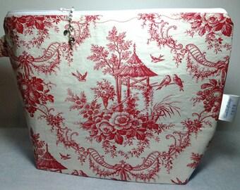 Vintage floral bag, Project red bag, Summertime print, Crochet bag, Travel bag, Wedge bag