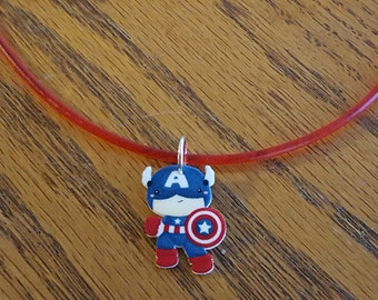 Avengers Inspired Captain America Necklace