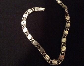 """Vintage 925 Sterling Silver bracelet! Unique design, ankle bracelet 9""""!"""