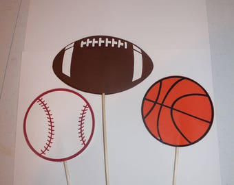 Sports Centerpieces- Basketball, Football, Baseball