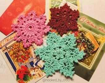 Christmas CROCHET Snowflake PATTERN/ Crochet photo tutorial/Christmas Crochet Pattern/ Christmas decoration/ Christmas snowflake