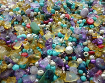 1+ lbs of Assorted seed beads, jewelry beads