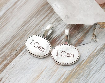 Set of 15, I can Charm, Motivation Charm, Fitness Charm, Message Charm, Believe Charm, Will Power Charm, Drive Charm, Grit Charm,