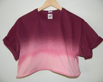 Tie Dye acid wash crop top cropped T shirt hipster festival grunge Retro vintage 80s 90s top indie dip dye indie skate rave crop top