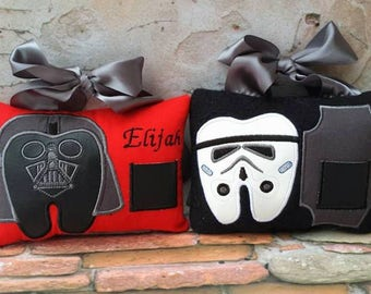 Tooth fairy pillow.Stormtrooper, Darth Vader tooth fairy pillow.