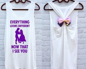 Rapunzel Princess Disney shirts :Disney tank tops / Disney tank top /Disney shirts for women/ Disney shirts for kids /Disney family shirts