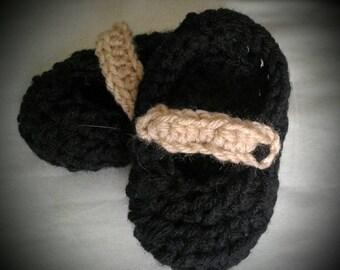 Crochet Mary Jane style booties