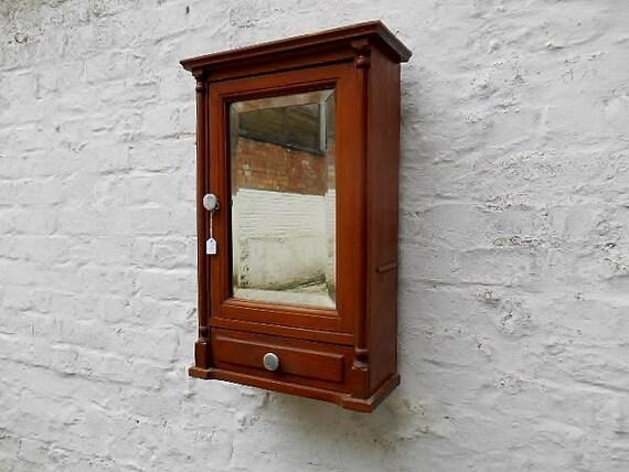 Antique bathroom wall cabinet rustic storage cabinet in oak - Antique bathroom wall cabinets ...