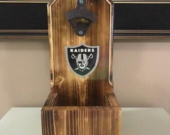 Raiders rustic wall mounted beer opener