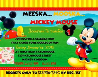 Mickey Mouse Clubhouse Birthday Invite