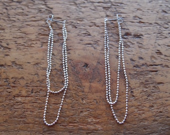 Gorgeous silver drop earrings perfect for the party season, measuring 6.5cm down