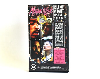 Isle of Wight Festival 1970 VHS Cassette Tape - Woodstock Message to Love Rockumentary Hendrix The Doors The Who Music