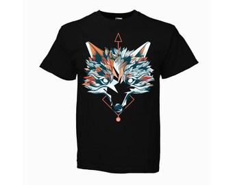 KOMOA Burst fox BLACK Kids T-SHIRT