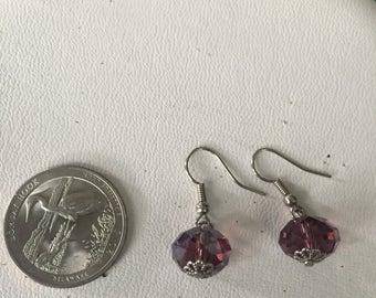 Vintage Sterling Silver Bead Earrings - AB