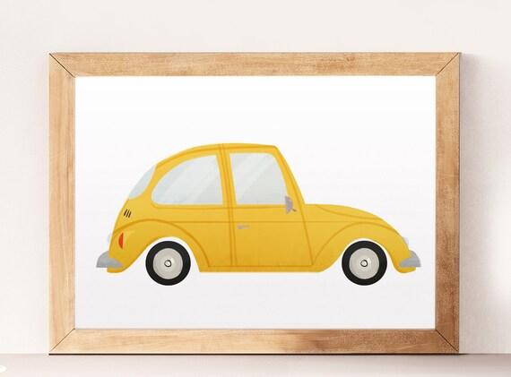 Cars wall art Kids cars print Children wall decor Wacky