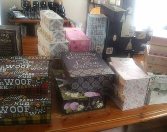 Decorative Wooden Boxes, Paper Mache Hinged Boxes and Book Boxes