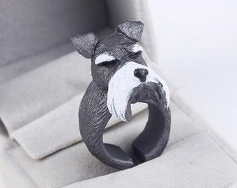 Animal bend ring funny women, 3D animal ring, Hedgehog Ring, Tiger Ring, Dog Ring, Ring for women Parrot Ring