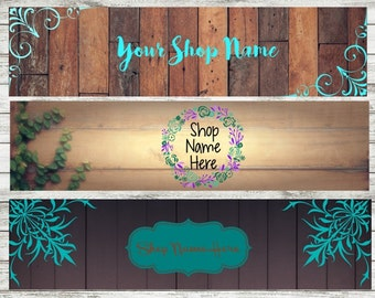 Pre-Made boho flowers shop banner
