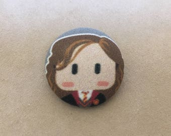 Hermoine Harry Potter inspired Button