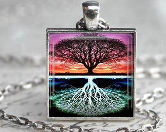 Tree of Life Necklace Keychain Tree of Life Pendant Tree Jewelry Tree of Life Art Necklace Tree of Life Keyfob Mothers Day Gift for her