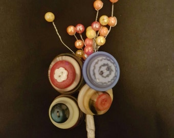 Buttons and Pearls Buttonaires  (B) 5 styles