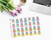 LAUNDRY TODAY or naked tomorrow Planner Stickers - CAM00112