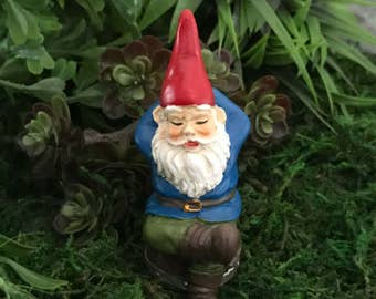 Miniature Gnome Rufus Napping