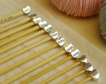 Nana Knitting Needles / Six Pair Set / Nana knitting gift / Knitting Gift / Knitting bag / Baby knitting / Knitting needle set
