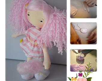 PATTERN DOLLS - Doll Cotton Candy