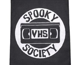 Spooky VHS Society Cloth Large Back Patch