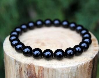 Black Onyx Bracelet, Onyx Bracelet, Black Bead Bracelet, Beaded Bracelet, Gemstone Bracelet, Yoga Bracelet, Men's/Women's Bracelet