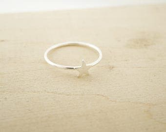 Sterling Silver Ring Blank - Sterling Silver Star Ring - Sterling Silver Stacking Rings - Sterling Silver Wholesale