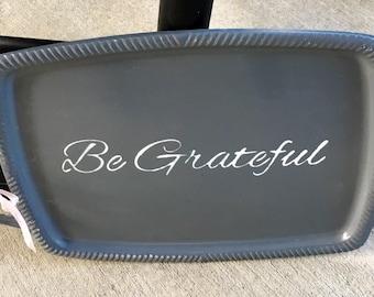 Decorative tray, serving tray, thanksgiving hostess gift