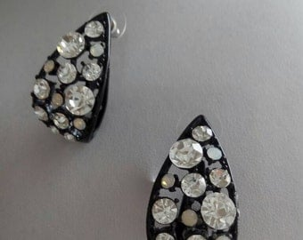 Vintage earrings with Rhinestones 90 years
