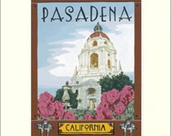 Pasadena Matted Giclée Art Print: The Bungalow Craft by Julie Leidel, WPA-Style Art, Arts & Crafts Movement