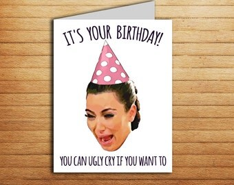 kim kardashian card  etsy, Birthday card