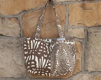 Hand bag, 100% Belgian linen, linen bag, reversible, hand made, shoulder bag