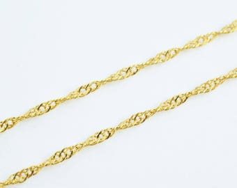 "Gold Filled Twisted Chain 18KT Gold Filled Size 17"" Long 2mm Width Item #CG13,Wholesale Chains/Gold Filled Chains,Gold Filled Supplies"