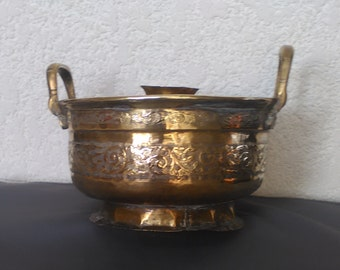 Copper, Morocco basin, accessories, ethnic, old, authentic, bought on the spot, popular, decorative,