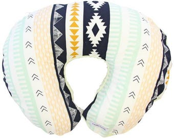Aztec Gold | Gold and Navy Nursing Pillow Cover
