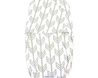 Gray Arrow Swaddle Wrap | Gray and White Tribal Baby Swaddle