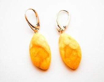 Natural baltic amber earrings 3g