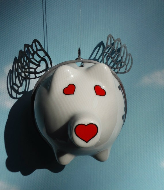 New York Flying Pig Up Cycled Piggy Bank