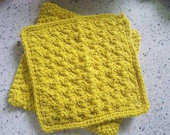 Mustard Yellow Dishcloths: Set of 2