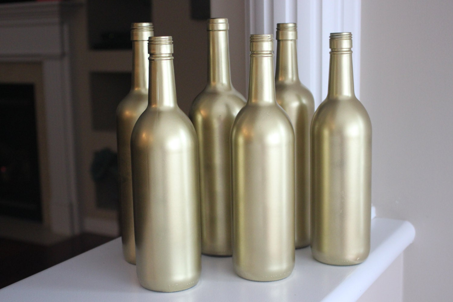 gold painted wine bottles gold bottles gold wedding gold