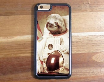 Moon Space Astronaut Gangsta Sloth iphone 5 5S 5C Iphone 6 6S 6 Plus Samsung Galaxy S3 S4 S5 S6 Protective Case Shell Cute Animal