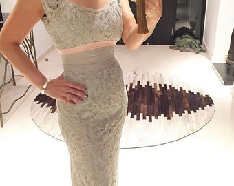 Amazing 1950s dove grey lace wiggle dress xxs/xs